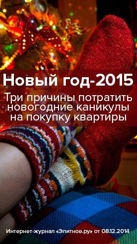 Новый год-2015: Три причины потратить новогодние каникулы на покупку квартиры