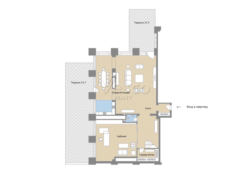 Планировка квартиры №84270