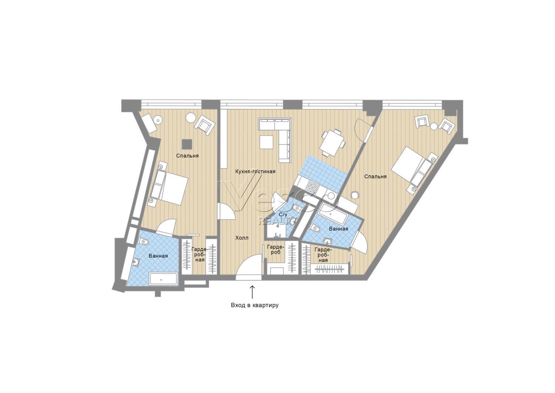 Планировка квартиры №82730