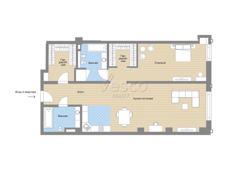 Планировка квартиры №84057