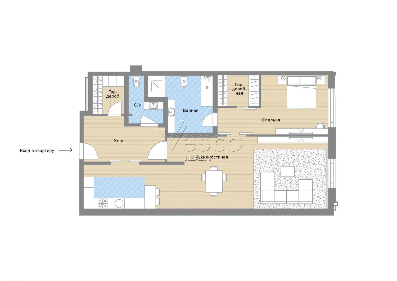 Планировка квартиры №82729