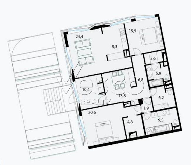 Планировка квартиры №80504
