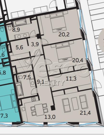 Планировка квартиры №80505