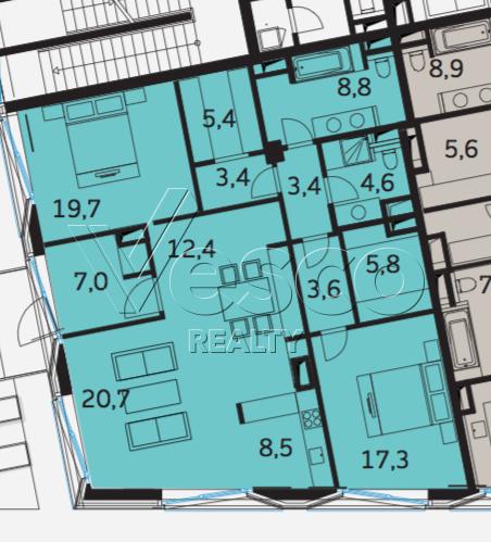 Планировка квартиры №80506