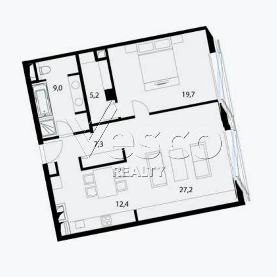 Планировка квартиры №80509