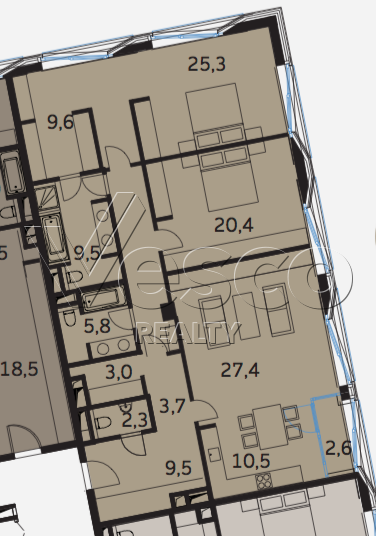 Планировка квартиры №80510