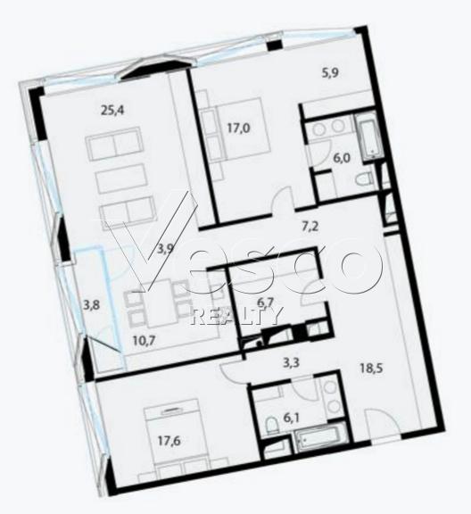 Планировка квартиры №80516