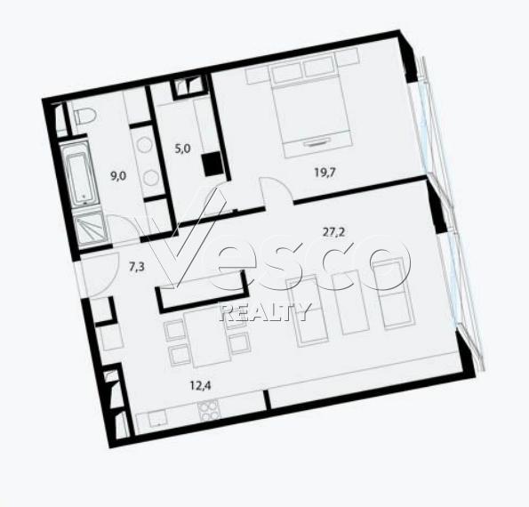Планировка квартиры №80517