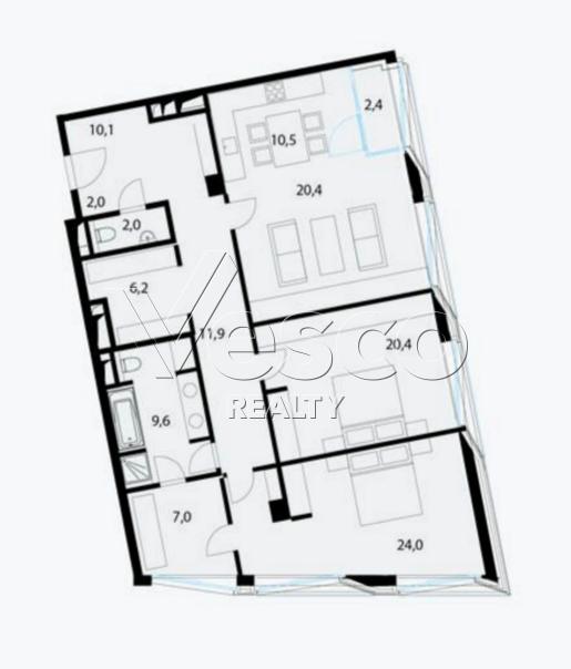 Планировка квартиры №80514
