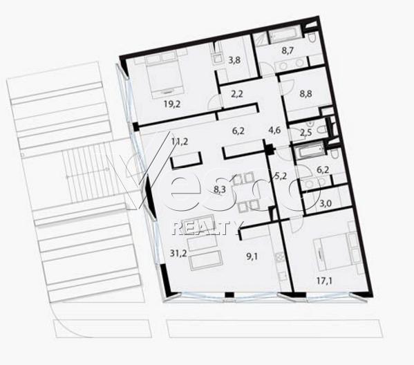 Планировка квартиры №80524