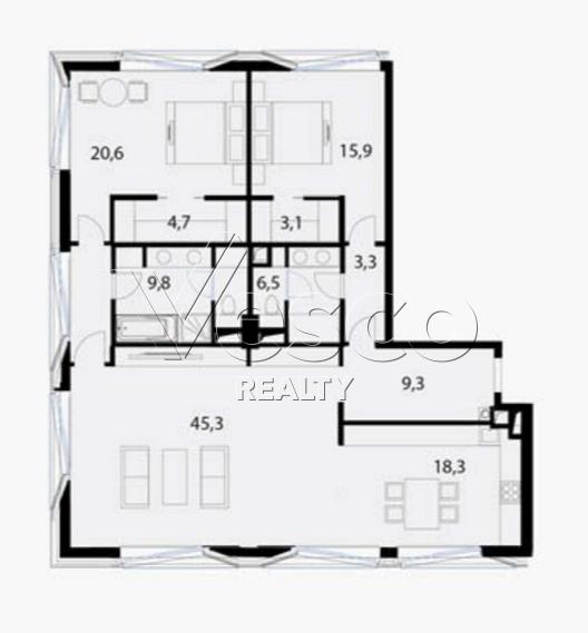 Планировка квартиры №80531