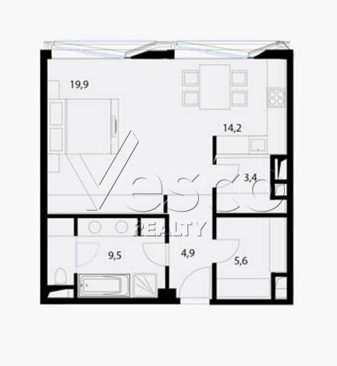 Планировка квартиры №80532