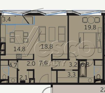 Планировка квартиры №80533