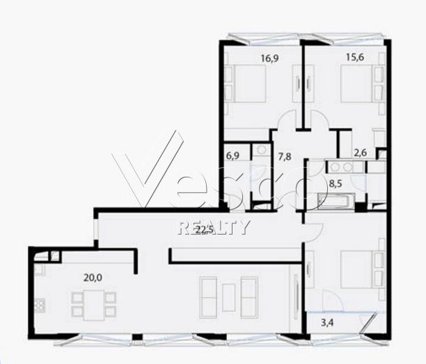 Планировка квартиры №80534