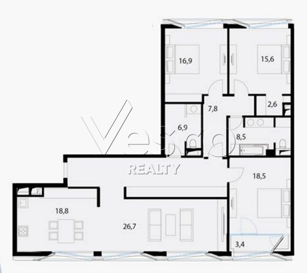 Планировка квартиры №80535