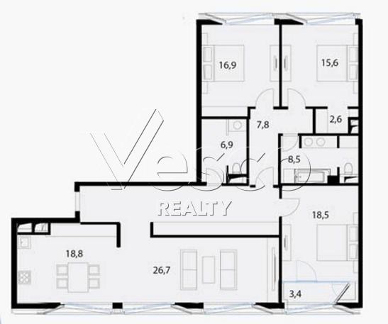 Планировка квартиры №80536