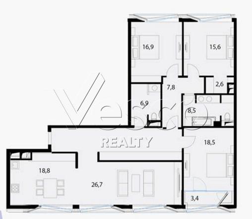 Планировка квартиры №80537