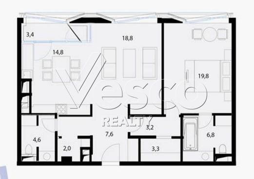 Планировка квартиры №80538