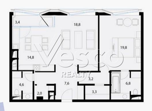 Планировка квартиры №80539