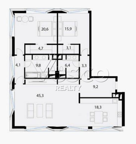 Планировка квартиры №80541