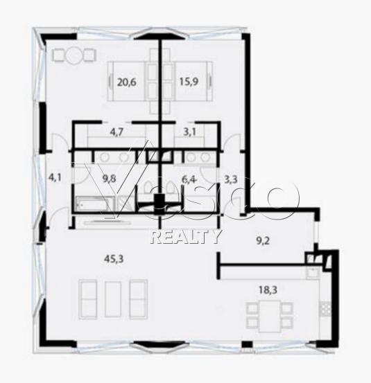 Планировка квартиры №80542