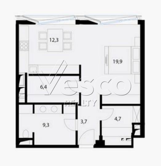 Планировка квартиры №80545