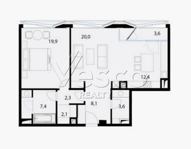 Планировка квартиры №80547