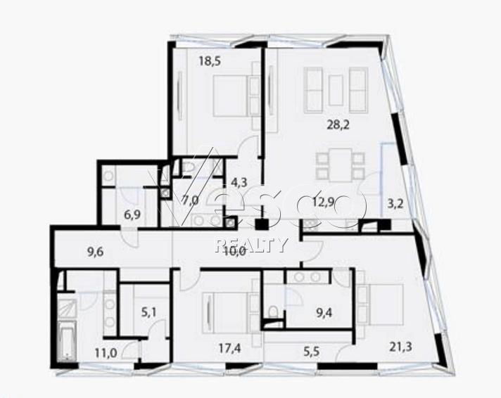 Планировка квартиры №80548