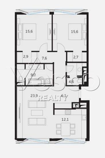 Планировка квартиры №80549