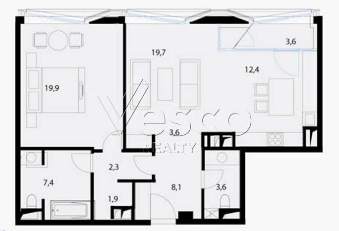 Планировка квартиры №80550