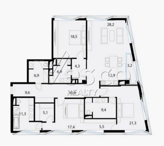 Планировка квартиры №80551