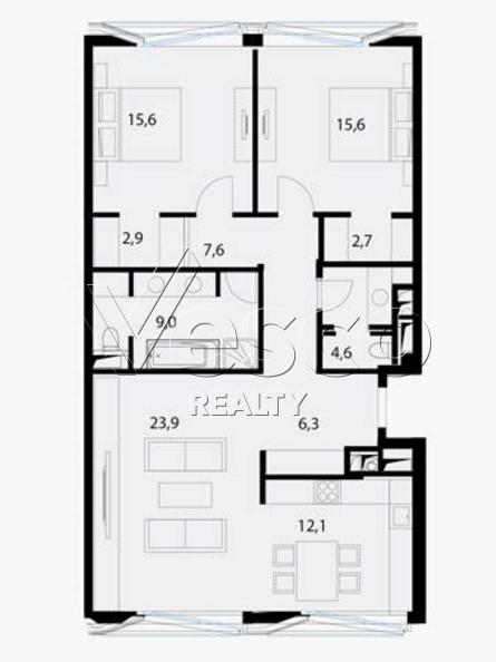 Планировка квартиры №80552