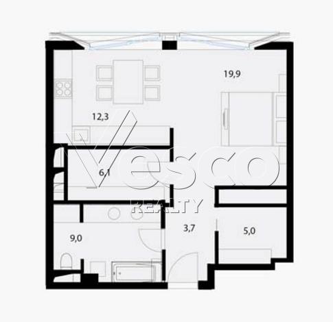 Планировка квартиры №80553