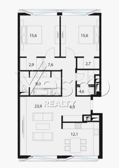 Планировка квартиры №80554