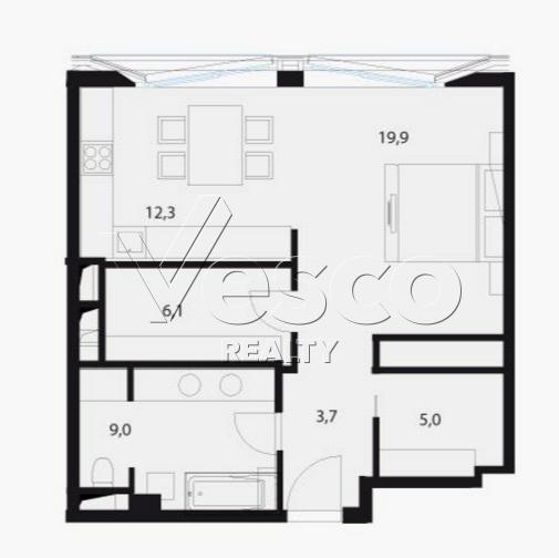 Планировка квартиры №80555