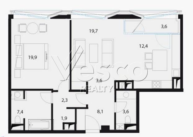 Планировка квартиры №80556