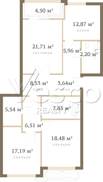 Планировка квартиры №84515