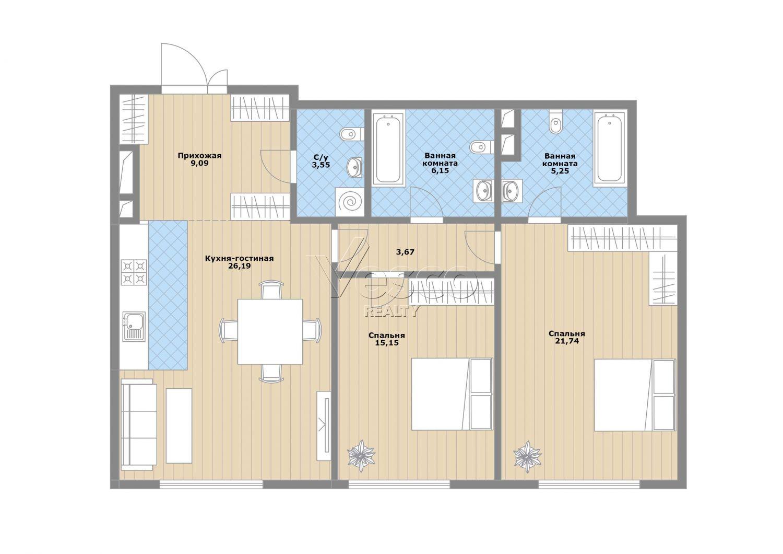 Планировка квартиры №83144