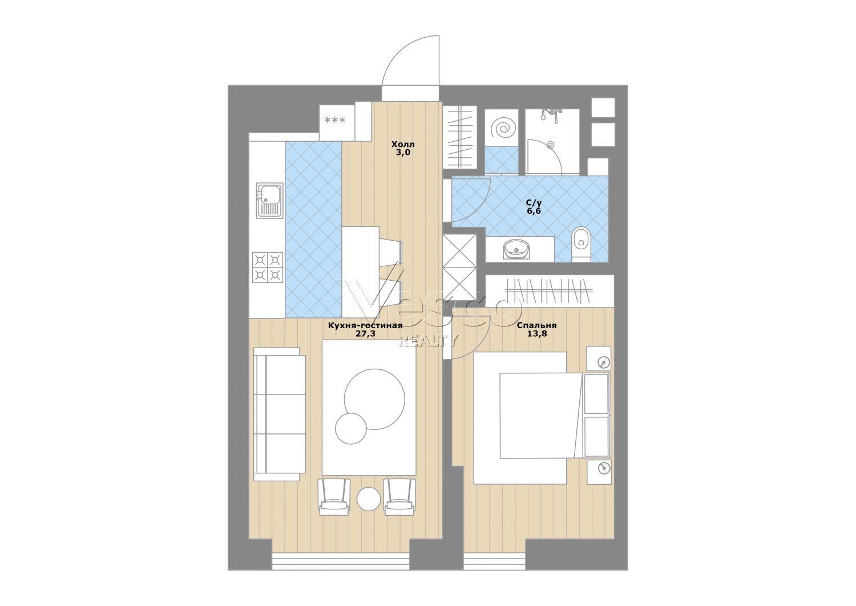 Планировка квартиры №83906