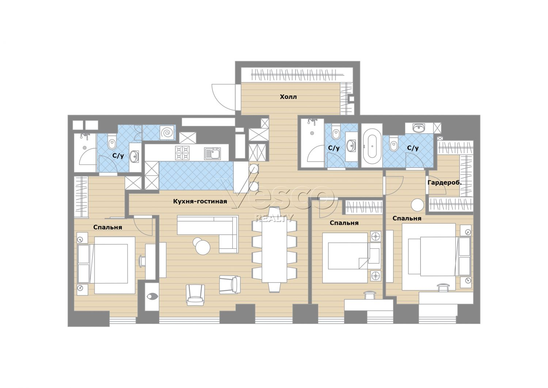 Планировка квартиры №84196