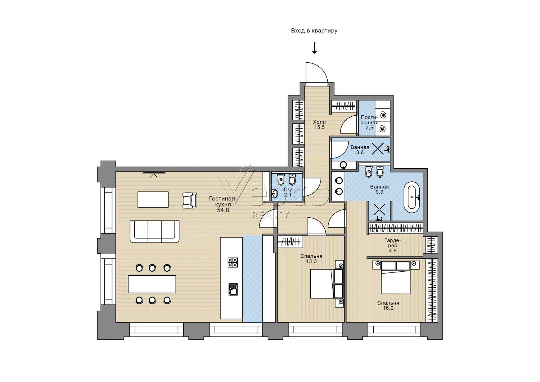Планировка квартиры №82384